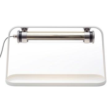 Lampe a poser d exterieur astrup dimmable led blanc argent h35cm l60cm sammode normal