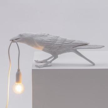 Lampe a poser d exterieur bird lamp playing outdoor blanc l33 5cm h11 5cm seletti normal