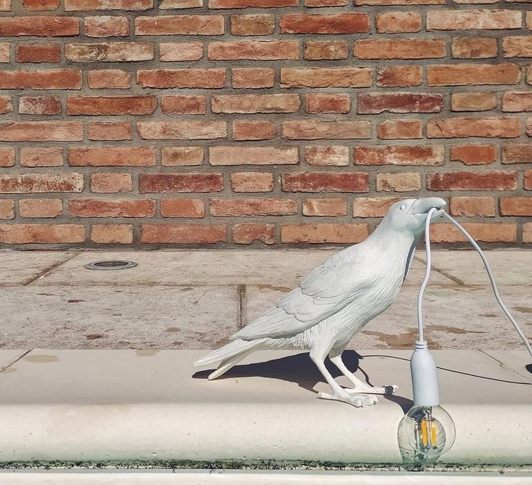 Bird lamp waiting outdoor marcantonio raimondi malerba lampe a poser d exterieur outdoor table lamp  seletti 14722  design signed nedgis 97204 product
