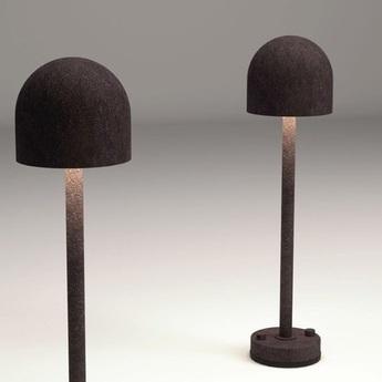 Lampe a poser d exterieur boleto 2308 aluminium ip65 o14cm h35cm martinelli luce normal