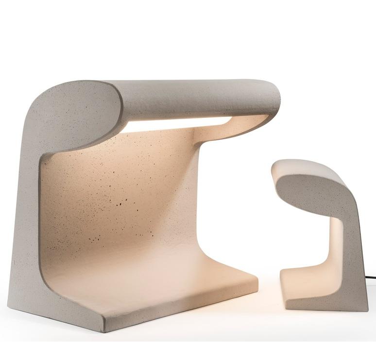 Borne beton mini charles le corbusier lampe a poser d exterieur outdoor table lamp  nemo lighting bbp ldw 22  design signed 58097 product