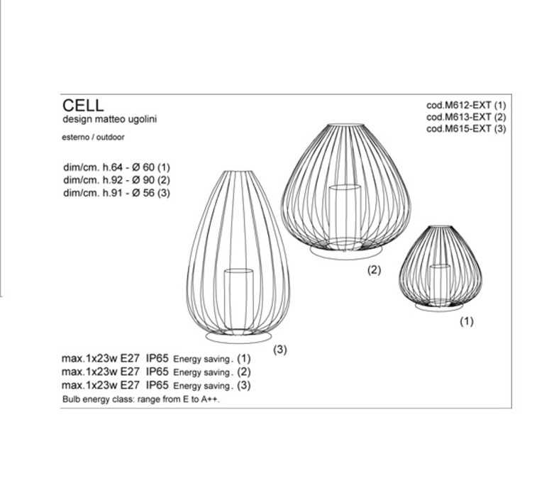 Cell matteo ugolini karman m612 ext luminaire lighting design signed 19961 product