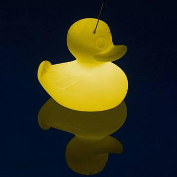 Lampe a poser d exterieur duck duck s jaune led 2700k 290lm l30cm h30cm goodnight light normal