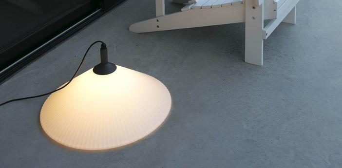 Lampe a poser d exterieur hue gris blanc led o57 5cm h34cm faro normal