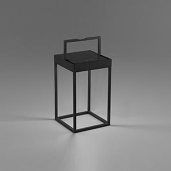 Lampe a poser d exterieur kasp lampe balise portable noir led k lm o18 4cm h50cm faro normal