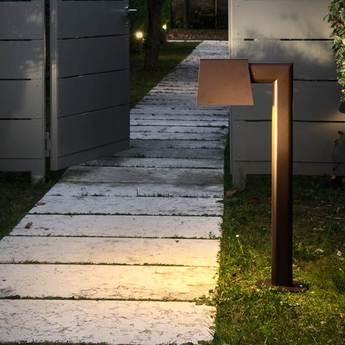 Lampe a poser d exterieur saint tropez marron l16 5cm h87cm torremato normal