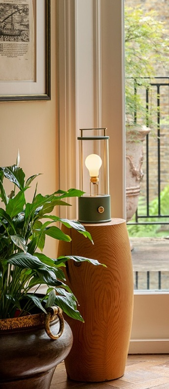Lampe a poser d exterieur the muse pleasure garden ip44 l13 5cm h33 8cm tala normal