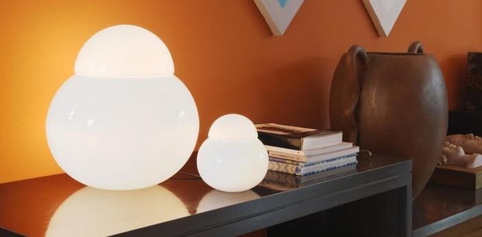 Lampe a poser daruma blanc h42cm fontana arte normal