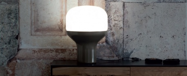 Lampe a poser delux noir o33cm h43cm martinelli luce normal