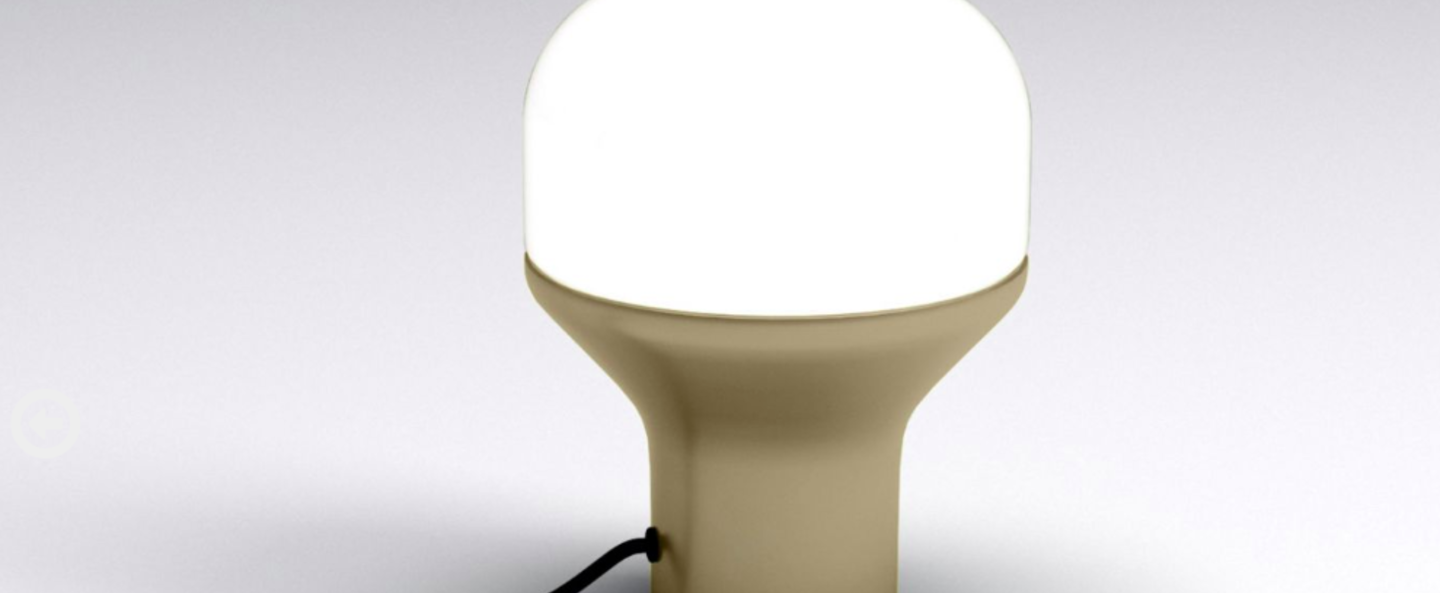 Lampe a poser delux s champagne led o16cm h22cm martinelli luce normal