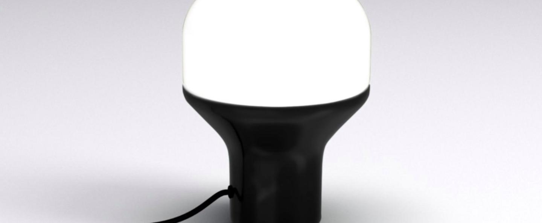 Lampe a poser delux s noir led o16cm h22cm martinelli luce normal