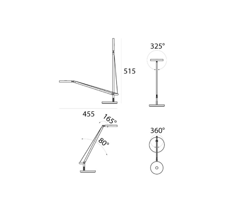 Demetra micro table naoto fukasawa lampe a poser table lamp  artemide 1747w20a  design signed nedgis 103884 product