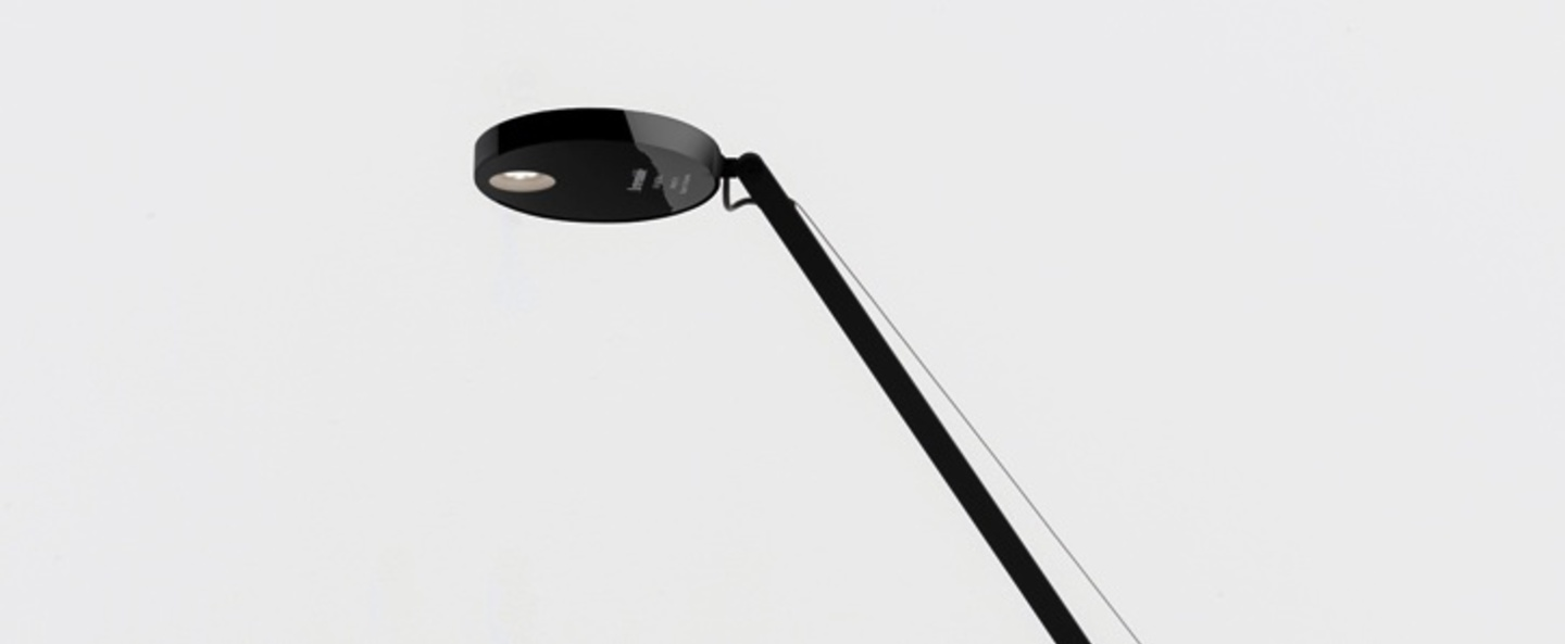 Lampe a poser demetra micro table noir h51 5cm l45 5cm led artemide normal
