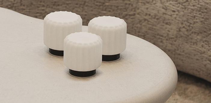 Lampe a poser dentelles h9 noir ip65 o9cm h9cm atelier pierre normal
