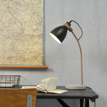 Lampe a poser denver noir cuivre h50cm o20cm it s about romi normal