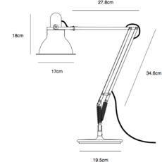 Desk lamp  sir kenneth grange lampe a poser table lamp  anglepoise 32249  design signed 40789 thumb