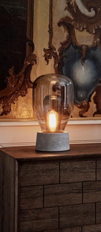 Lampe a poser dewar gris o22 5cm h41 4cm bolia normal