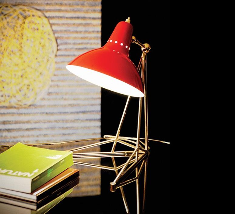 Diana studio delightfull delightfull table diana red nickel luminaire lighting design signed 25634 product