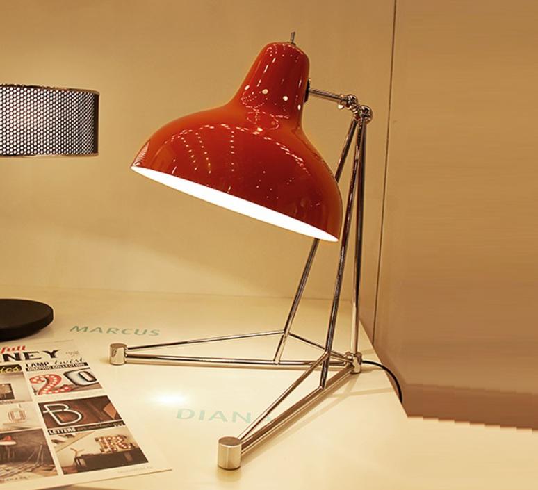 Diana studio delightfull delightfull table diana red nickel luminaire lighting design signed 25635 product