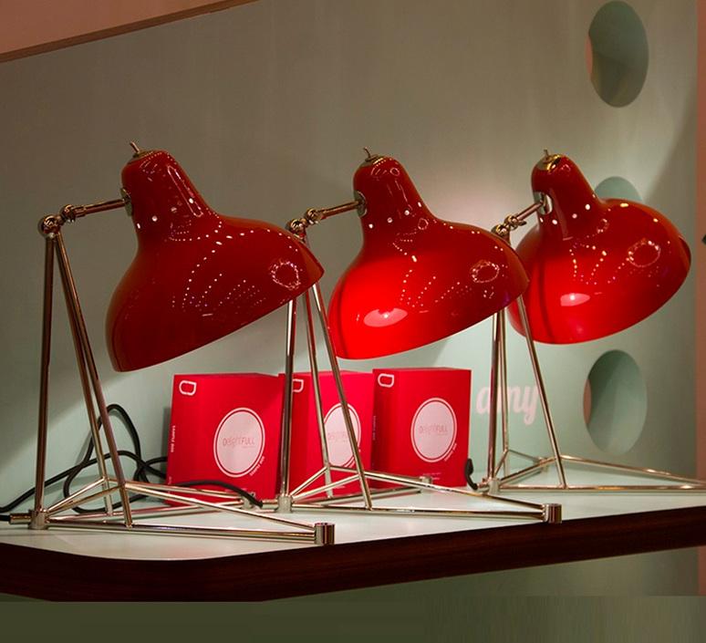 Diana studio delightfull delightfull table diana red nickel luminaire lighting design signed 25638 product