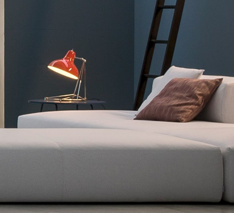 Diana studio delightfull delightfull table diana red nickel luminaire lighting design signed 25639 product