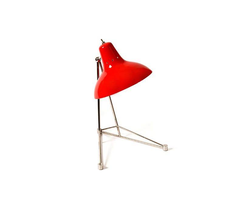 Diana studio delightfull delightfull table diana red nickel luminaire lighting design signed 25640 product