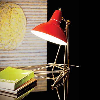 Lampe a poser diana rouge h43cm delightfull normal
