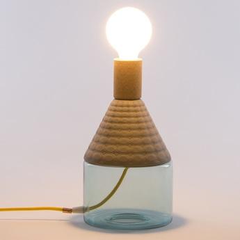 Lampe a poser dina gris bleu marron o15 5cm h29 5cm seletti normal