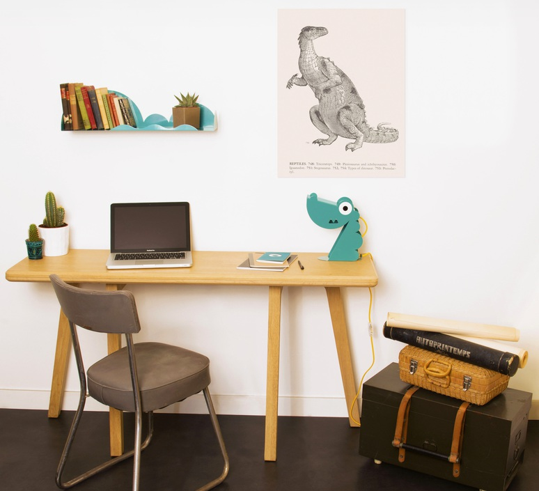 Dinosaure bleu carmin design studio lampe a poser table lamp  bleu carmin design lmp animo 001  design signed nedgis 77185 product