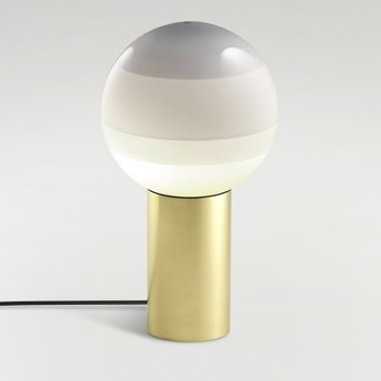 Lampe a poser dipping light blanc casse led o30cm h54cm marset normal