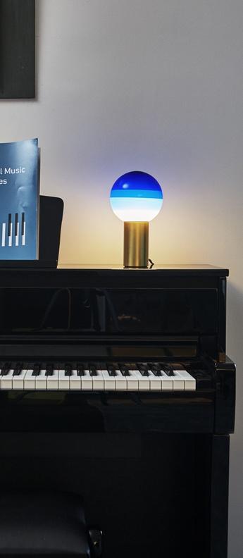 Lampe a poser dipping light bleu led o12 5cm h22 2cm marset normal