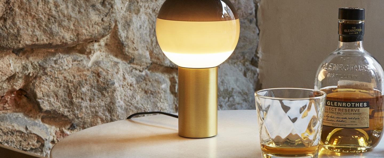 Lampe a poser dipping light noir led o12 5cm h22 2cm marset normal