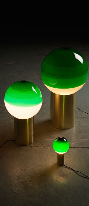 Lampe a poser dipping light vert led o30cm h54cm marset normal