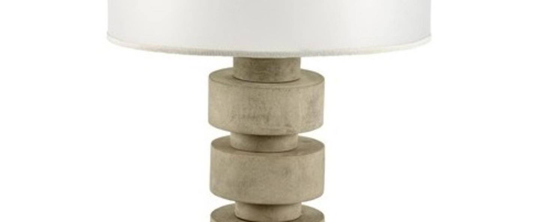 Lampe a poser disc lamp beton blanc o38cm h50cm serax normal