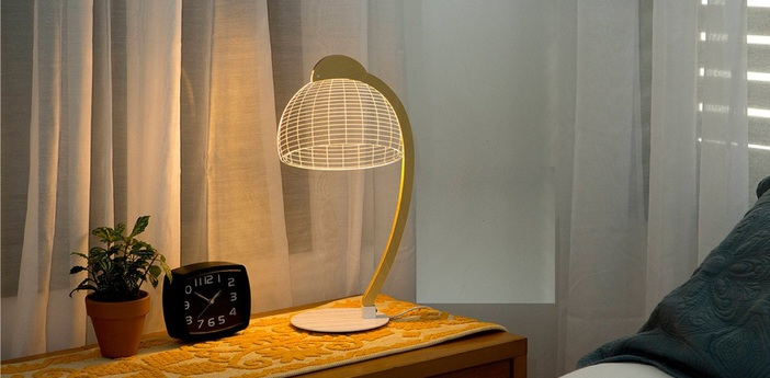 Lampe a poser dome led h42cm studio cheha normal