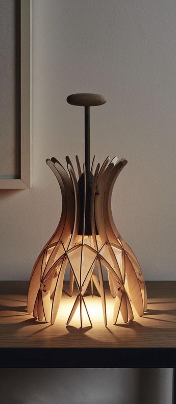Lampe a poser domita m 36 bois naturel o20cm h25 5cm bover normal