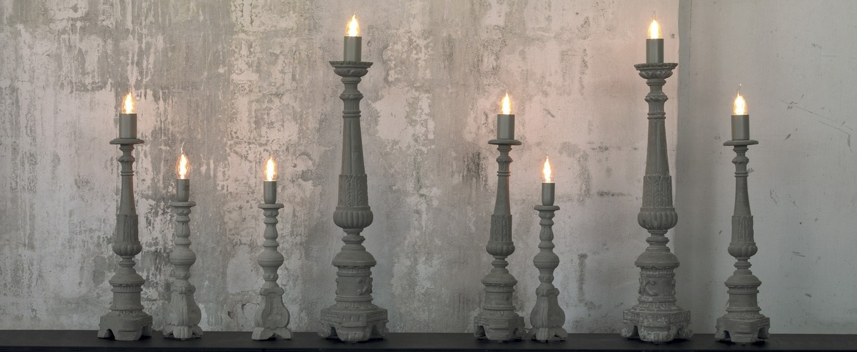 Lampe a poser don gino gris h40cm karman normal