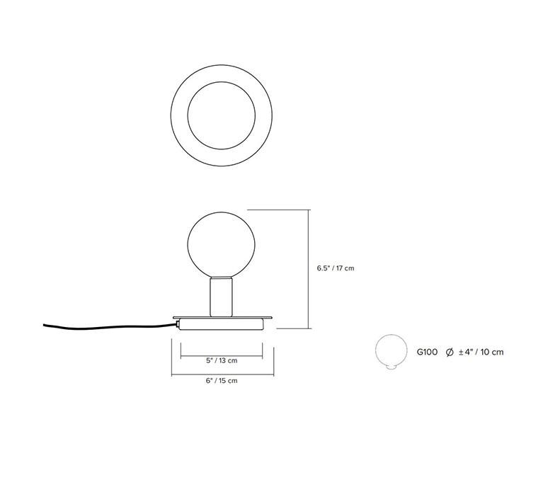 Dot 04 studio lambert fils lampe a poser table lamp  lambert fils dot04brbk  design signed nedgis 124699 product
