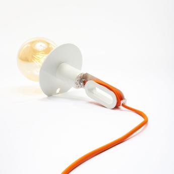 Lampe a poser driyos naked blanc o15cm h21cm zava normal