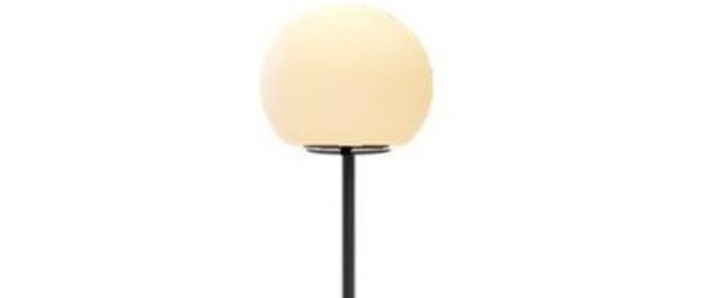 Lampe a poser dro table 2 0 noir ambre o30cm h54cm wever ducre normal