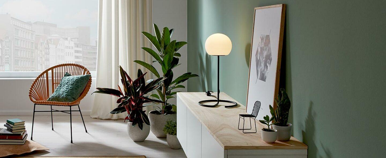 Lampe a poser dro table 2 0 noir et blanc o30cm h54cm wever ducre normal