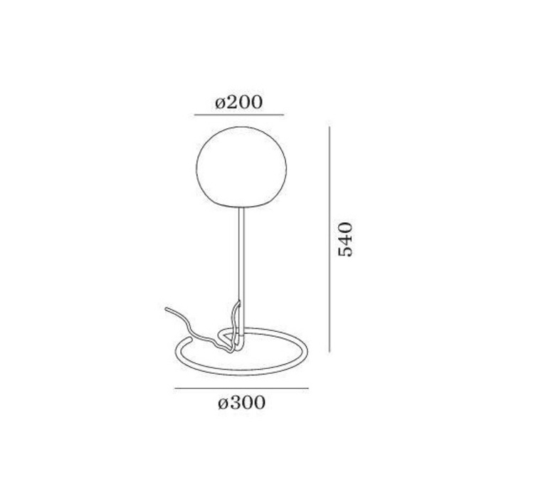 Dro table 2 0 13 9 design lampe a poser table lamp  wever et ducre 6432c0wb0  design signed nedgis 67407 product