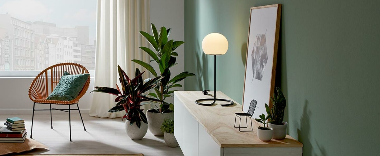 Lampe a poser dro table 3 0 noir ambre o30cm h62 5cm wever ducre normal