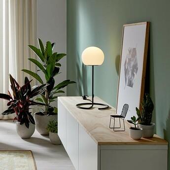 Lampe a poser dro table 3 0 noir et blanc o30cm h62 5cm wever ducre normal