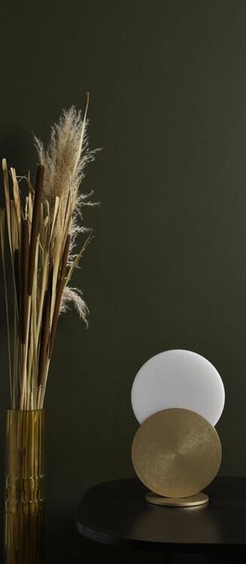 Lampe a poser duo laiton blanc led 3000k 300lm l20cm h31cm eno studio normal