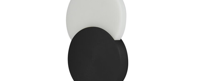 Lampe a poser duo noir blanc led 3000k 300lm l20cm h31cm eno studio normal