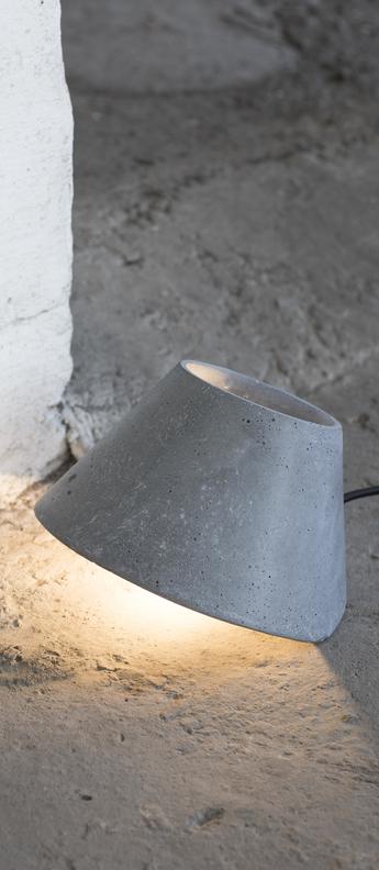 Lampe a poser eaunophe s gris led o22cm h15cm serax normal