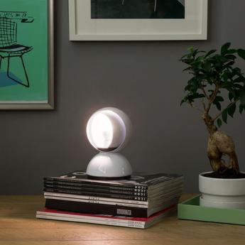 Lampe a poser eclisse blanc o12cm h18cm artemide normal