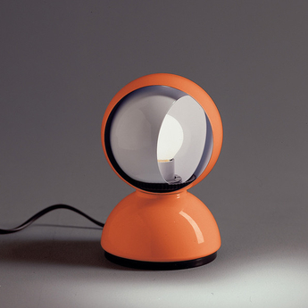 Lampe a poser eclisse orange o12cm h18cm artemide normal