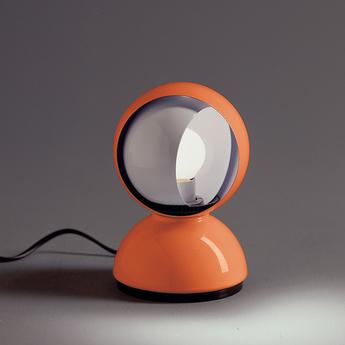 Lampe a poser eclisse orange o12cm h18cm artemide normal